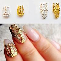 10Pcs New Colorful Bow Alloy DIY Jewelry Glitter Rhinestone 3D Nail Art Decor