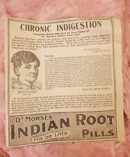 Dr Morse's Indian Root Pills - 1921 Advertisement