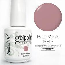 15ml Mabel's Gel Nail Art Soak Off Color UV Gel Polish UV Lamp - Pale Violet Red