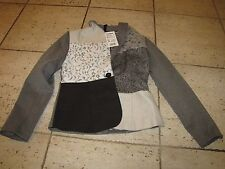 "NEW NWT *DESIGUAL"" Size 4-USA ""Manuela"" Blazer Grey/Black $179 38-Europe"
