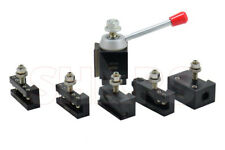 "Shars 6 - 12"" CNC Lathe AXA Piston Quick Change Tool Post Set 250-100 Aloris New"