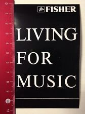 ADESIVI/Sticker: Fisher-Living for music (040316185)
