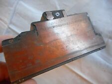 Antique Letterhead Printing Blocks Press Ermisch Cleaning & Dyeing Co Indiana