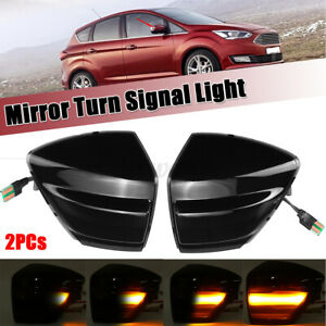 Sequential Dynamic LED Side Mirror Indicator Light For Ford S-Max C-Max Kuga UK