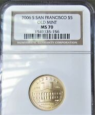 2006-S Gold $5 San Francisco Old Mint Commemorative  Coin - NGC MS70