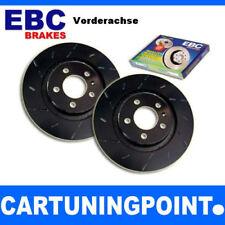 DISCHI FRENO EBC ANTERIORE BLACK dash per VW POLO 4 6N1 usr809