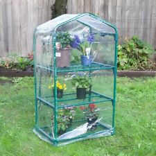 3 Tier Green House Portable Outdoor Warm Greenhouse Flower Plants Gardening PVC