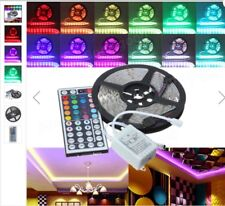 5m Bandeau Led Ruban Flexible NonEtanche,5050 300smd Led RGB+Telecommand+capteur