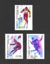 Russia 1988 Winter Olympic Games/ Skiing/ Skating short set of 3 values used