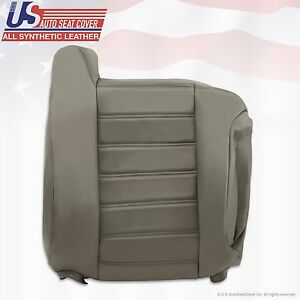 2003 to 2007 Hummer H2 Passenger Lean Back Synthetic Leather Seat Cover Gray
