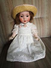 Rara vieja porcelana cabeza muñeca Schoenau y Hoffmeister Antique Doll