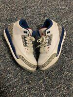 Nike Air Jordan 3 Retro OG True Blue 2016 854261-106 Youth Size 6Y Women's 7.5