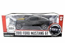 Greenlight 2010 Ford Mustang GT Black / Yellow 1/18 Diecast car 12869