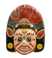 Maschera Nepalese Mahakali Kali Dance Indra Jatra Nepal Carta Mache Mask 8453