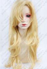 290 IB Mary blond wavy long Cosplay Party Fashion Wig 80cm free wig cap