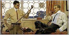 """1914 JC Leyendecker, Golf Clubs, Arrow Collar Advertisement, 20""""x10"""" ART PRINT"""