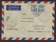 CZECHOSLOVAKIA 1948 AIRMAIL COVER to ECUADOR