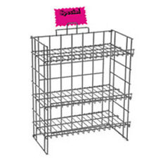 New Retails Black Wire 3 Shelf Counter Display Rack 24 in W x 12 in D x 24 in H