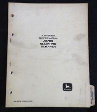 GENUINE 1960's JOHN DEERE JD760 760 INDUSTRIAL SCRAPER TRACTOR SERVICE MANUAL