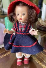 Vintage Muffie Story Book Doll Walker Brown Eyes & Hair 7�