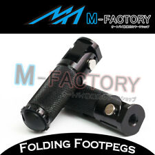 Black Foldable Racing Rearsets Foot pegs Footrest For Motorcycles