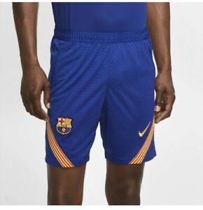 2020-2021 Barcelona Nike Strike Training Shorts (Blue) Large