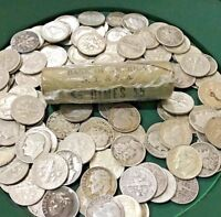 Unsearched Coin Rolls SOLID SILVER Dime Original Bank Wrapped 50 Coins = 1 Roll