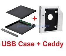 12.7mm SATA DVD Drive External USB Case Enclosure + HD HDD SSD Adapter Kit Caddy