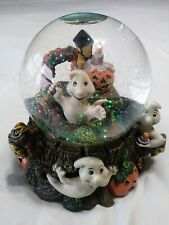 Halloween Music Of The Night Phantom Of The Opera Water Globe w/Pumkins & Ghosts