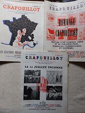 LOT 3 REVUES LE CRAPOUILLOT 1965 / 1966