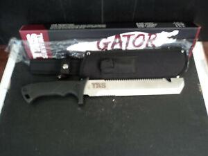 Brand New TRS Survival Tactical Defense GATOR Machete w Sheath Sharpener & Box