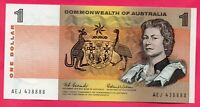 1966 COMMONWEALTH OF AUSTRALIA $1 NOTE COOMBS/WILSON UNC AEJ43 8888 SEMI SOLED