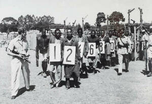 Suspected Members Of The Mau Mau Terrorist Group 1953 OLD PHOTO
