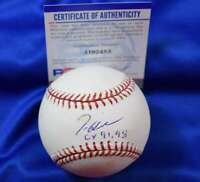 Tom Glavine 91 98 CY PSA DNA Coa Autograph Major League OML Hand Signed Baseball