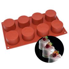 8 Holes Mini Round Cylinder Circular Column Cake Formas De Silicone Dessert Mold