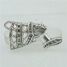 15719 15PCS Alloy Antique Silver Vintage Love Heart Queen Egypt Egyptian Pendant