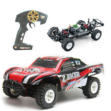 RC Monster Truck Car Electric Remote Control Fast Speed RTR 1/16 2.4GHz 4WD Red