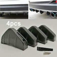 4 x Carbon Style Car Rear Lower Bumper Diffuser Fin Spoiler Lip Wing Splitter