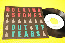 """ROLLING STONES 7"""" OUT OF TEARS ORIG 1994 MINT UNPLAYED MAI SUONATO 3 TRACKS"""