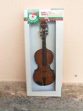 NUOVO Violino ornamentale in miniatura vintage Kurt S. Adler in legno