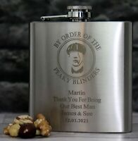 GD Engraved//Personalised GODFATHER Hip Flask Gift For Christening//God Parent