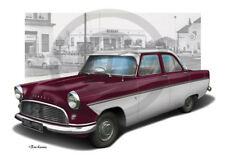 FORD MK2 CONSUL ZEPHYR ZODIAC PRINT PERSONALISED ILLUSTRATION OF YOUR CAR