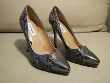 Steve Madden Snake Skin Metallic Capped Toe High Heels Pumps size 8