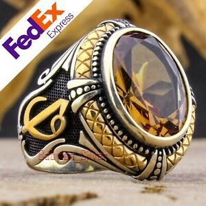 Alexandrite Change Color Stone 925 Sterling Silver Vav Elif Men's Ring All Sizes
