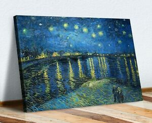 VAN GOGH CANVAS WALL ART PRINT ARTWORK  PICTURE STARRY NIGHT OVER THE RHONE