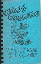 BEAVERTON OR 1980 VFW & AUXILIARY COOK BOOK * WHAT'S COOKING OREGON VETS * LOCAL
