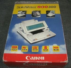 Personal Publishing System CANON StarWriter JET 300 Computer & Printer DOS Boxed
