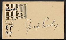Jack Ruby Autograph Reprint On Genuine Original Period 1963 3X5 Card *BCRD