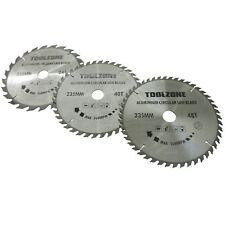 3pc 235mm TCT lames scies circulaires 24 / 40 et 48 dents anneaux adaptateur