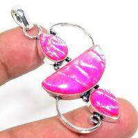 """Tripelet Fire Opal Handmade Ethnic Style Jewelry Pendant 2.36 """"  AA-308"""